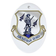 US Air National Guard Oval Ornament