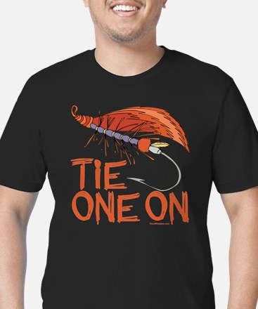 Fly Tying Men's Fitted T-Shirt (dark)