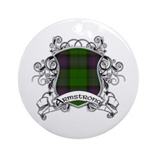 Armstrong Tartan Shield Ornament (Round)