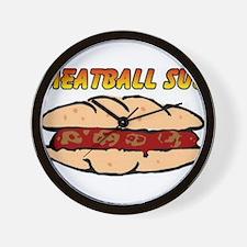 Meatball Sub Wall Clock