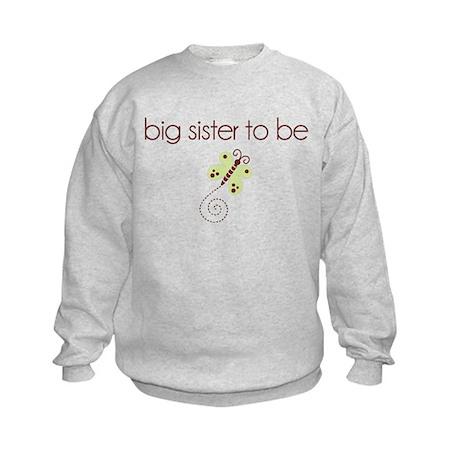 big sister to be dragonfly Kids Sweatshirt