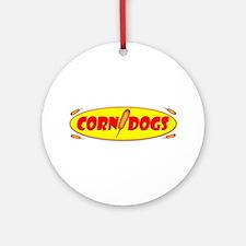 Corn Dogs Ornament (Round)