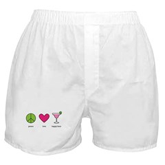 peace. love. happy hour Boxer Shorts