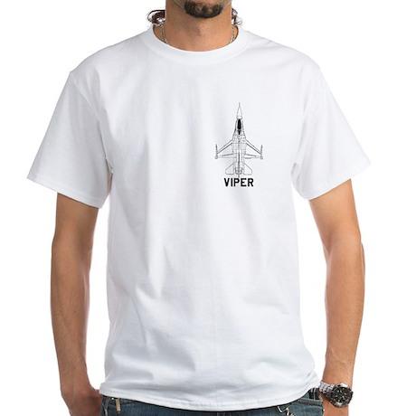White T-Shirt - F-16