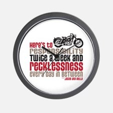 Cute Biker quotes Wall Clock