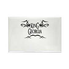 King Georgia Rectangle Magnet