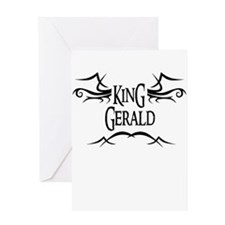 King Gerald Greeting Card