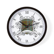 Anderson Tartan Shield Wall Clock