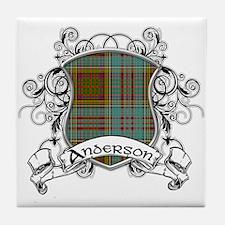 Anderson Tartan Shield Tile Coaster