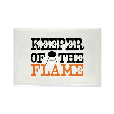 Keeper of the Flame (Grill) Rectangle Magnet (10 p