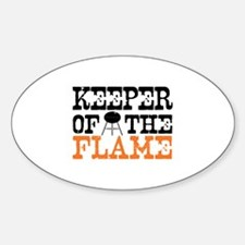 Keeper of the Flame (Grill) Oval Decal