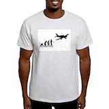 Evolution of aviation Mens Light T-shirts