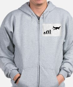Airplane Evolution Zip Hoodie