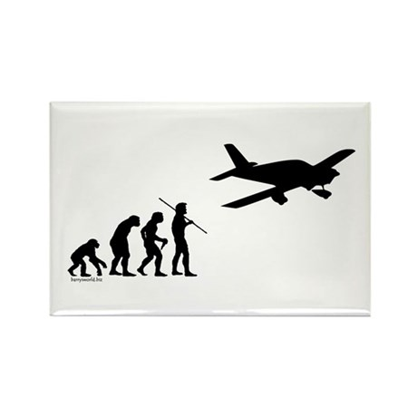Airplane Evolution Rectangle Magnet (100 pack)