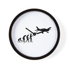 Airplane Evolution Wall Clock