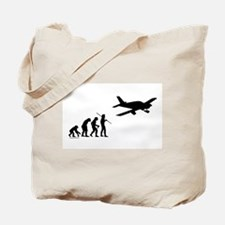 Airplane Evolution Tote Bag
