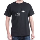 Helicopter Mens Classic Dark T-Shirts