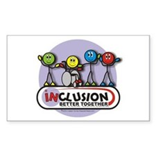 Inclusion Better Together Rectangle Decal