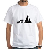 Funny sailing Mens White T-shirts