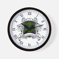 Alexander Tartan Shield Wall Clock