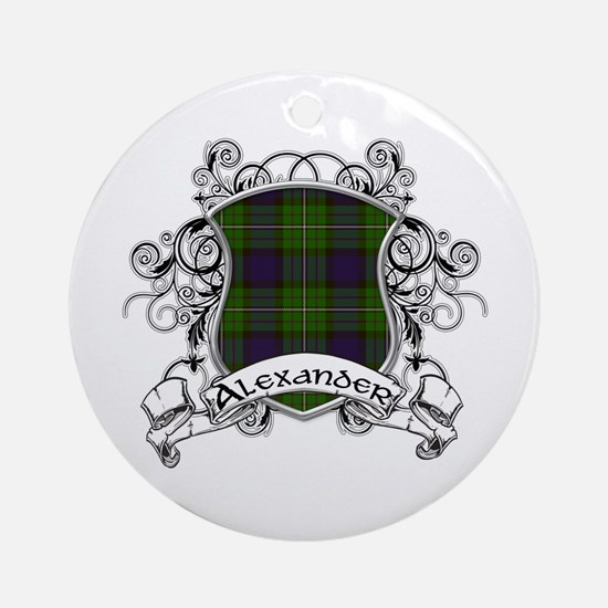 Alexander Tartan Shield Ornament (Round)