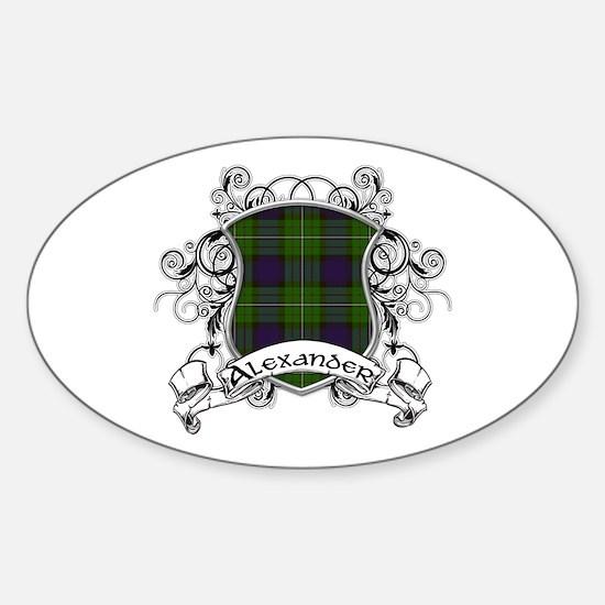 Alexander Tartan Shield Sticker (Oval)
