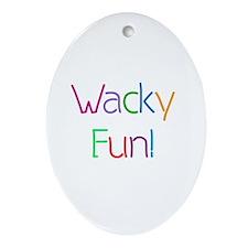 Wacky Fun Oval Ornament