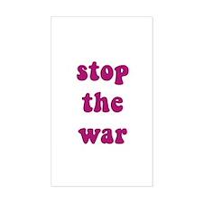 Stop The War Rectangle Decal
