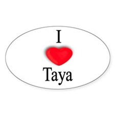 Taya Oval Decal