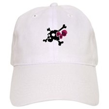 Skull with Roses Baseball Cap