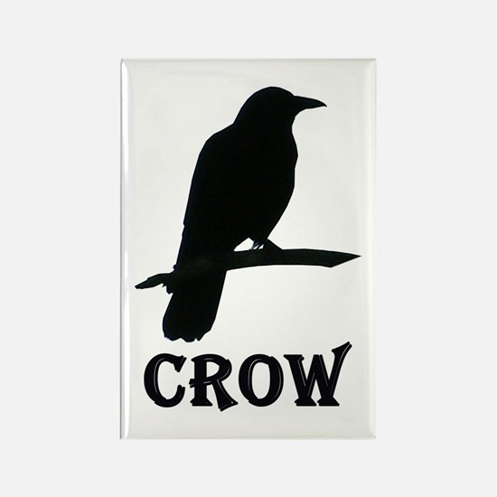 Black Crow Rectangle Magnet