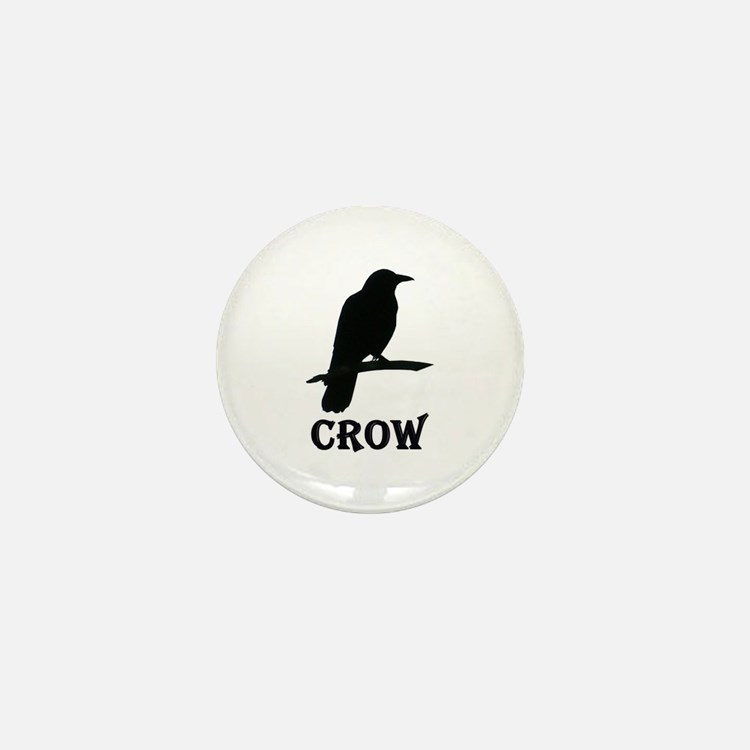 Black Crow Mini Button