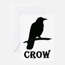 Black Crow Greeting Card