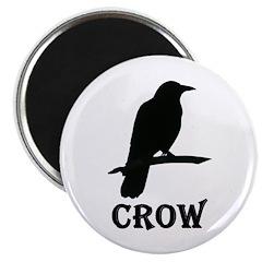 "Black Crow 2.25"" Magnet (100 pack)"