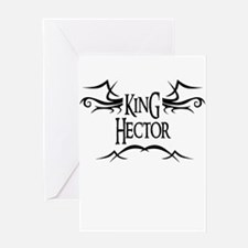 King Hector Greeting Card