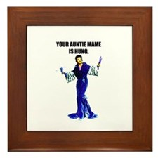 AUNTIE MAME IS HUNG Framed Tile