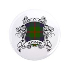 "Agnew Tartan Shield 3.5"" Button"