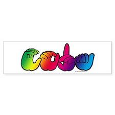 CODA Rainbow Bumper Sticker