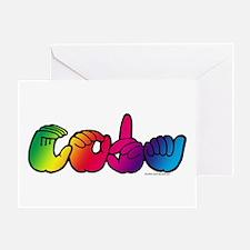 CODA Rainbow Greeting Card