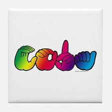 CODA Rainbow Tile Coaster