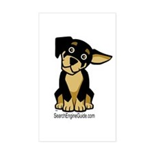 Rottie With Search Engine Gui Sticker (Rectangular