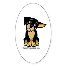 Rottie With Search Engine Gui Oval Decal