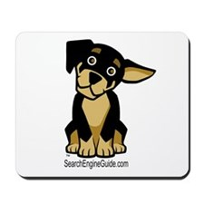 Rottie With Search Engine Gui Mousepad
