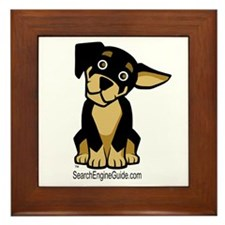 Rottie With Search Engine Gui Framed Tile