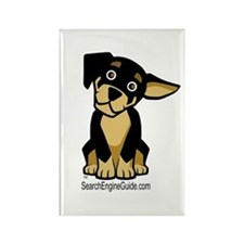 Rottie With Search Engine Gui Rectangle Magnet