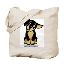 Rottie With Search Engine Gui Tote Bag