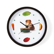 'Veggie Time' Guinea Pig Clock