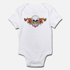 Flaming Skull and Hearts Infant Bodysuit