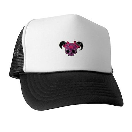 Girl Skull w/Tails Trucker Hat