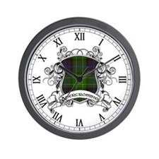 Abercrombie Tartan Shield Wall Clock